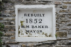 Leaving your mark (Matchman Devon) Tags: sign dartmouth stonework rebuilt mayor