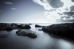 Fife LE (5 of 10) (Muse2k8) Tags: fife scotland long exposure coast coastal sea beach black white zig zag st monans