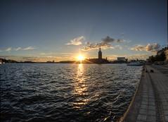 Sunset Stockholm (neilalderney123) Tags: 2016neilhoward olympus samyang fishie fisheye stockholm sweden sunset sun reflection