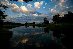 Cloud on the water (Costigano) Tags: reflection water clouds sunset dusk outdoor scenic scenery landscape cartonhouse kildare ireland irish canon eos sky