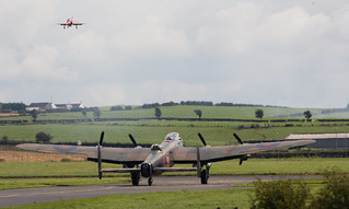 Avro Lancaster Mk 1 PA474 & Red Arrow