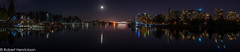 Vancouver Nightscape-18 (Robert Henrickson) Tags: coalharbour vancouver fullmoon reflection ocean beautifuolbc explorebc nightscape cityscape rowingclub marina boats longexposure