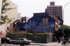 Mural of World Trade Center (meg williams2009) Tags: worldtradecenter mural wallpainting restaurant new york nyc septembereleven 911 memorial 911memorial filmphoto hopegangloff