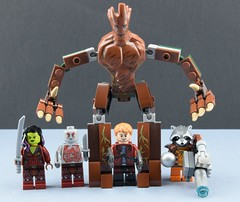 We are the Guardians of the galaxy (Alex THELEGOFAN) Tags: lego guardians of the galaxy groot rocket raccoon gamora drax star lord starlord gotg super heroes marvel minifigures minifigure minifig minifigs minifigurine legography