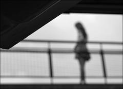 F_DSC8374-BW-Nikon D800E-Nikkor 28-300mm-May Lee  (May-margy) Tags:  maymargy bw                  streetviewphotographytaiwan mylensandmyimagination linesformandlightandshadows naturalcoincidencethrumylens taiwan repofchina humaningeometry fdsc8374bw portrait pedestrian overpass structure viewfromback blur bokeh taipeicity nikond800e nikkor28300mm maylee
