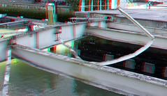 Grote Wijnbrug Rotterdam 3D (wim hoppenbrouwers) Tags: wijnhaven sloop demolition anaglyph stereo redcyan grote wijnbrug rotterdam 3d grotewijnbrug rotterdam3d