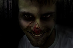 Tim Gon' Getcha (peardropsareyummy) Tags: scary portrait wound evil photoshop spooky creepy digitalart disturbing horror