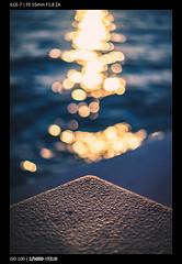 Sea and Bokeh Balls (Falcdragon) Tags: sonya7alpha ilce7 croatia holiday europe sonyzeisssonnarfe1855mmza sunset sea bokeh zadar