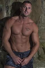 Jay on Location Shoot (Graham Peers) Tags: fitness muscle wellness portrait male model flash location nikon metz lighting stone real backdrop