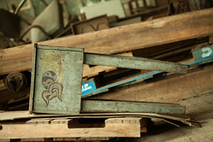 Toppled (Skier1437) Tags: canon abandoned urbex urban exploration eastcoast decay urbandecay mill buildling textile textilemill fabric sheets sheet industry abandonedindustry factory industrialrevolution industrial stool desk wood painted
