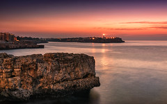 Enjoy the sound of the sea (Stefan Sellmer) Tags: landscape light lighthouse mallorca portocolom reflections rocks spain sunrise water coast colorful glow holiday longexposure mediteransea morning outdoor seascape summer felanitx illesbalears spanien es