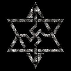 as above so below, everything is cyclic (synartisis) Tags: raelian symbol swastika hexagram hexagon above below sacred geometry