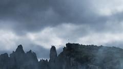 Ay Petri (SofiaVinova) Tags: fog mountains shadows bridge people high forest crimea matte