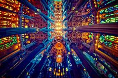 Gaudi-an curves (BlindThirdEye) Tags: gaudi barcelona sagradafamilia spain architecture travelphotography fisheeye ultrawideangle lowlight highiso flickrtravelaward