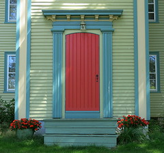 Front door, Cherryfield, Maine, USA (Spencer Means) Tags: architecture door front house building colorful color cherryfield maine me usa downeast washingtoncounty east down newengland