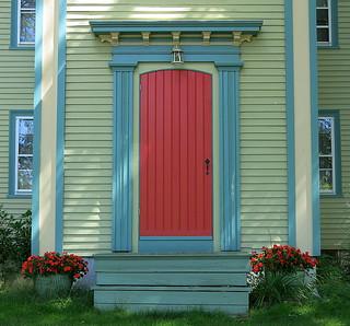 Front door, Cherryfield, Maine, USA