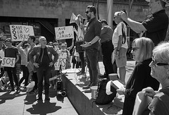 Sirius Protest Rally (Karin Gottschalk) Tags: people blackandwhite monochrome outdoor protest rally demonstration sossirius sosbrutalism fujifilm xpro2 xf23mmf14 r fujifilmxpro2 xf23mmf14r fujinon captureonepro sirius siriusbuilding therocks millerspoint architecture socialhousing greenbans styles presets captureonefilmstyles captureonefilmstylesextended imagealchemist acros