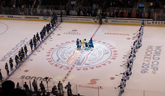 Pregame Ceremony (dtstuff9) Tags: toronto ontario canada world cup hockey air centre center arena ice sports europe sweden semi finals 2016