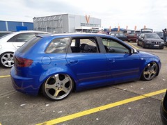 Audi A3 Sportback (911gt2rs) Tags: treffen meeting show tuning tief low stance airride 8p 8pa blau blue sline s3