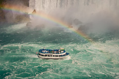 Under The Rainbow @ Horseshoe Falls (A Great Capture) Tags: on ontario canada canadian photographer northamerica ash2276 ashleylduffus ald mobilejay jamesmitchell summer summertime 2016 agreatcapture agc wwwagreatcapturecom adjm maidofthemist niagarafalls niagara falls waterfall rainbow horseshoefalls horseshoe river gorge water boat blue mist green