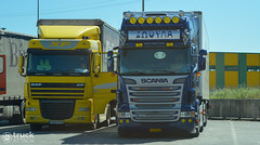 Scania R620 TL - Dritsos  &  DAF XF105.410 (Avramidis_Alex) Tags: scania gr greece hellas fridge frigo refrigerated