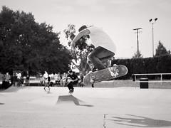 A Moment (M L Hannah) Tags: film filmisnotdead bw blackandwhite skate skatepark skater frontfootimpossible jmiller vicwest farewell og skateboarding skateboard trick move pentax k1000 pentaxk1000 ilford ilford125