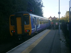156421 @ Salford Crescent (ianjpoole) Tags: northern rail 156421 142045 working 2f15 manchester victoria kirkby