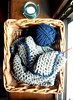 Crochet brown baby blanket with blue border (_Giorgia) Tags: crochet blanket babyblanket crochetblanket brown blue crochetbabyblanket theorangedandelion