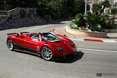 Pagani Automobili (Raphaël Belly Photography) Tags: red black paris car de french rouge photography eos hotel riviera photographie s casino montecarlo monaco belly exotic 7d passion raphael rosso rb spotting zonda amg supercars roadster v12 pagani noire raphaël horacio principality worldcars