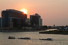 Sunset over Chao Phraya (Charles EYES PiX) Tags: voyage travel sunset river thailand boat asia bangkok taxi asie chaophraya thailande fleuve กรุงเทพฯ siriraj กรุงเทพมหานคร แม่น้ำเจ้าพระยา eyespix