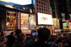 Times Square (TheOtter) Tags: city nyc newyorkcity light people urban night crowd advertisement timessquare
