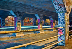Krog Street Tunnel (Mark Chandler Photography) Tags: longexposure bridge atlanta color st canon photography graffiti photo atl tunnel 7d krog krogstreettunnel markchandler