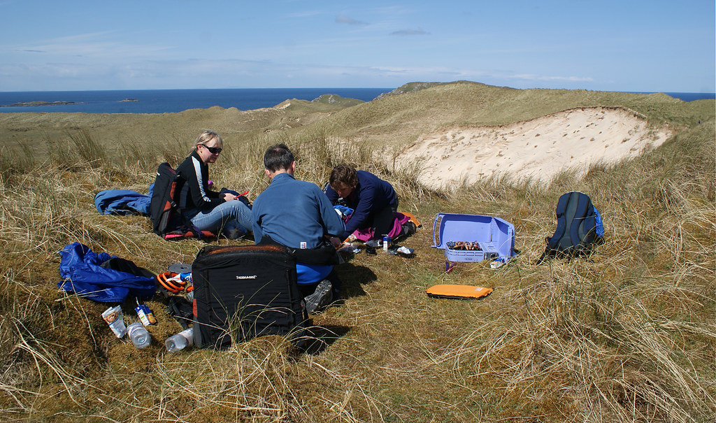 Lunch in the dunes on Coll