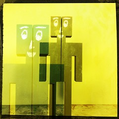 Smile at me (lambiris) Tags: art dual doublevision woodendoll hipstamatic blackboardfigure
