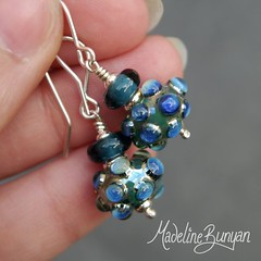 "teal shimmer bubbles earrings • <a style=""font-size:0.8em;"" href=""https://www.flickr.com/photos/37516896@N05/7251226170/"" target=""_blank"">View on Flickr</a>"