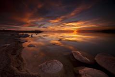 Eclipse Night._DSC2541 (antelope reflection) Tags: sunset lake reflection beach water colors clouds utah antelopeisland greatsaltlake utahstatepark nikond90 tamron1024