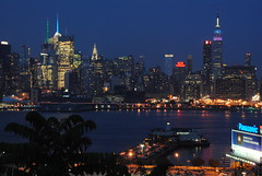 The Blue Hour (Christina Nalio) Tags: nyc newyorkcity skyline newjersey nj newyorker hudsonriver empirestatebuilding weehawken charthouse