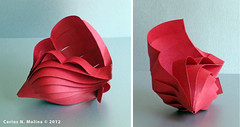 Red Shell - Paper Art (Carlos N. Molina - Paper Art) Tags: newyork art paperart origami puertorico shell craft kirigami papercraft papersculpture paperartist carlosnmolina