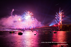 Golden Gate Bridge 75th Anniversary Celebrations (davidyuweb) Tags: sanfrancisco california bridge usa reflection water golden gate fireworks anniversary celebrations 75th sfist goldengatebridgefireworks