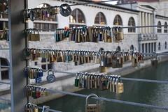 Locks (Dick Dangerous) Tags: bridge slovenia ljubljana locks ljubljanica
