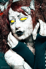 Alice Cracking Up (Mark O'Grady // Photography) Tags: art texture make up digital photoshop photography paint mark alice gritty bizarre cracked cracking ogrady