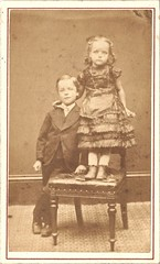 Florence and William Channing Moorhouse (Addie-B) Tags: boy portrait girl vintage children photo florence sister brother antique picture william siblings photograph cdv channing moorhouse 1871 1872