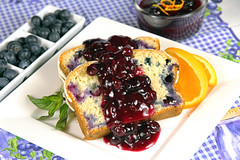 Blueberry Dessert (IrishMomLuvs2Bake) Tags: food orange bread dessert fun sweets bluberries compote blueberrybread