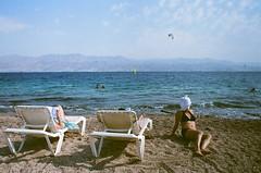 85170007 (Miss Kaplan) Tags: film beach funny towel natalie 35 eilat kaplan
