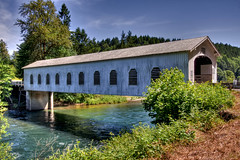 Goodpasture Bridge, along the McKenzie River, Vida, OR (sandyhd) Tags: day clear goodpasturebridge oregoncoveredbridges