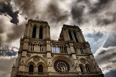 Notre-Dame de Paris - 4 (woto) Tags: notredame paris church cathedral hdr sky iglesia