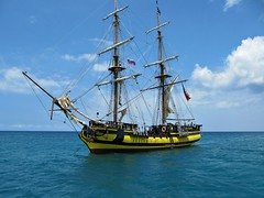 Sailing in the Caribbean (Stella Blu) Tags: blue sailing ship dominicanrepublic teal caribbean repblicadominicana stellablu canonsx200 pregamewinner