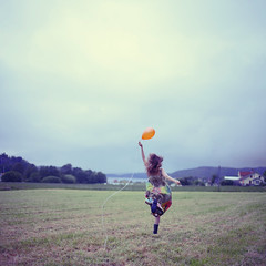 Running (Beata Rydn) Tags: sky orange green girl field speed hair photography movement soft dress country balloon flight happiness running run greenfield wellies visualart beata fineartphotography countryhouse greentones softtones orangeballoon flowinghair runninggirl theflight runningwoman rydn girlandballoon beatarydn