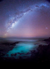 Australia (john white photos) Tags: sea sky night stars australia southaustralia eyrepeninsula sleafordbay abcopen:project=lightpainting
