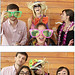 <p>Scripps students hang loose in the Scripps Day photo booth sponsored by UCSD Alumni.</p>